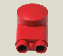 Red Lug /& Ring Terminal Insulators VTE Black